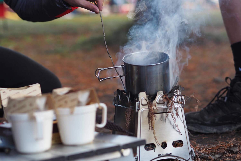 コーヒーを沸かす