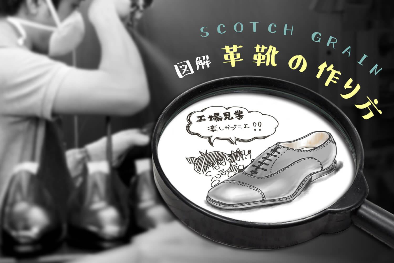 革靴 作り方 スコッチグレイン