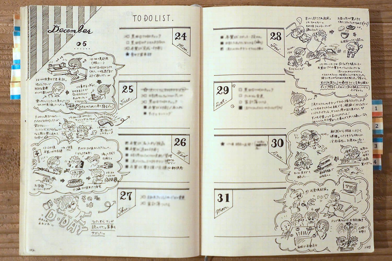 絵日記の多いバレットジャーナル