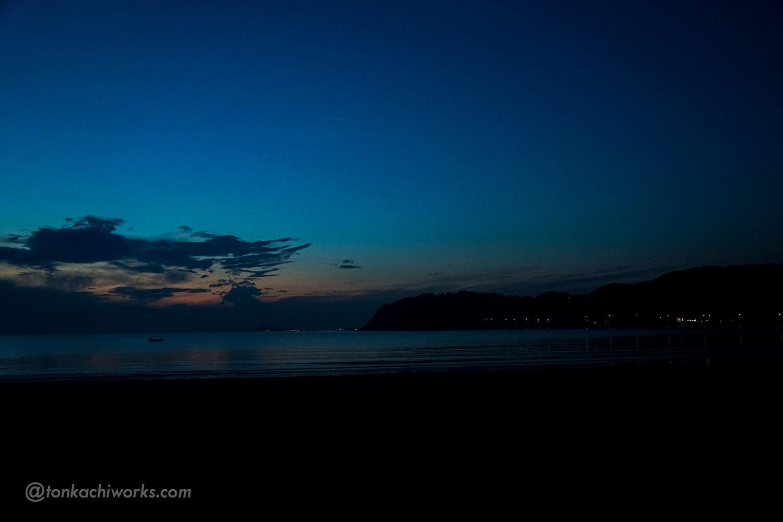 夜の逗子海岸-3